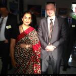 Akademia Obrony Saggita Strzelanie Bojowe Ochrona VIP Tadeusz Dubicki i Monika Kapil Mohta Ambasador Indii w Polsce i na Litwie 2