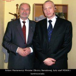 Ochrona Vip Antoni Macierewicz Minister Obrony Narodowej, były szef MSWiA Akademia Obrony Saggita Tadeusz Dubicki Krav Maga Wrocław Wałbrzych Świdnica