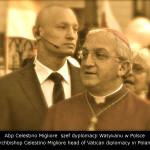 Akademia Obrony Saggita Strzelanie Bojowe Ochrona VIP Tadeusz Dubicki i Abp Celestino Migliore  szef dyplomacji Watykanu w Polsce