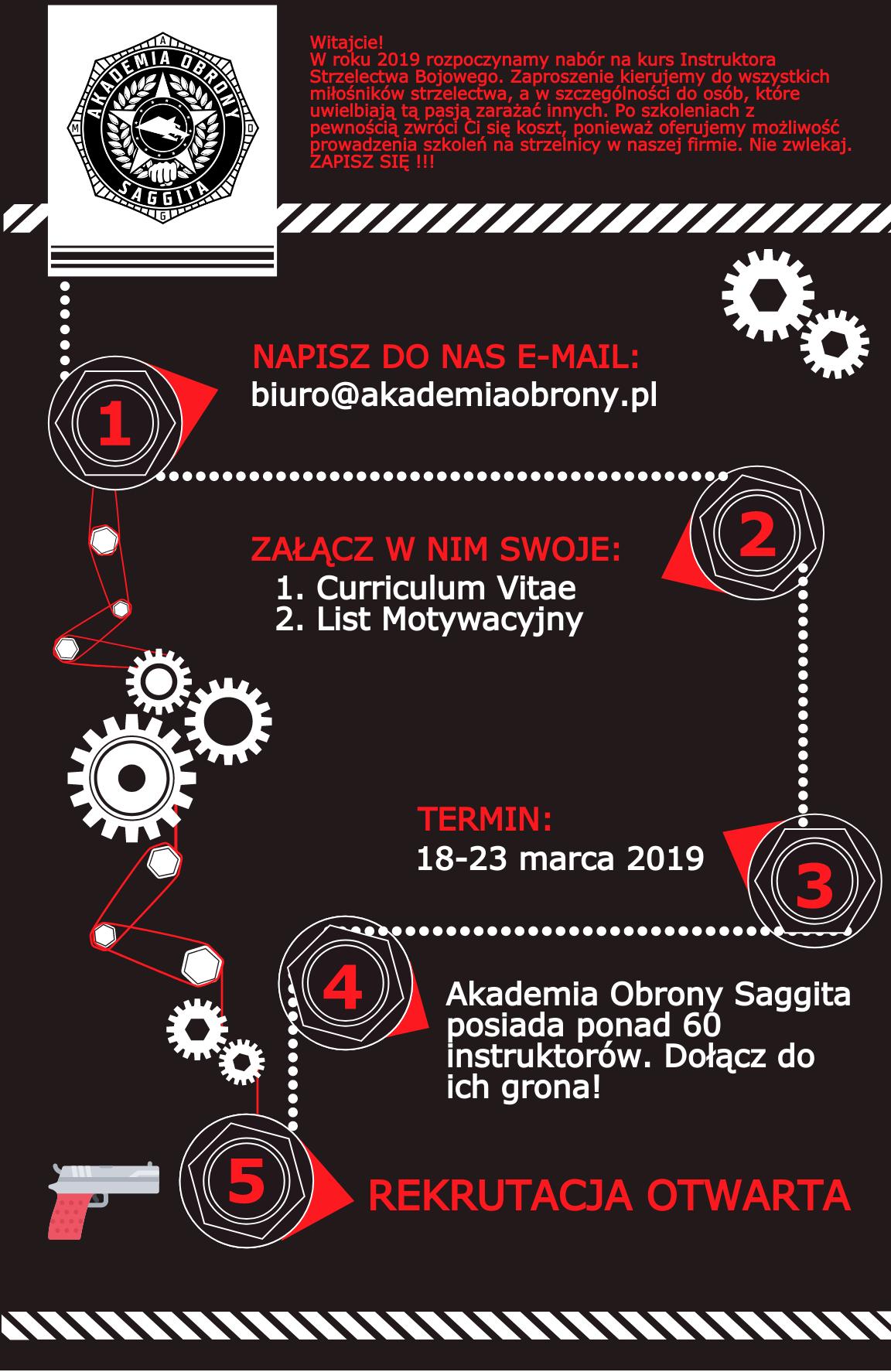 Akademia Obrony Saggita Tadeusz Dubicki, kurs instruktorski